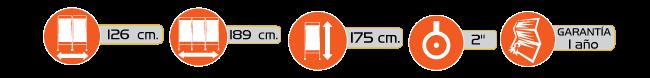 Especificaciones Biombos con Ruedas de Dos y Tres Hojas