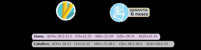 Especificaciones Bota ROM con Rango de Movimiento