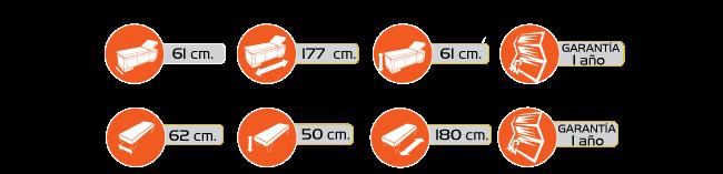 Especificaciones CHAISSE LONGUE