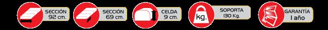 Especificaciones Colchon Neumatico ROHO Prodigy de 3 Secciones