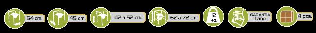 Especificaciones Comodo Acero Extra Resistente