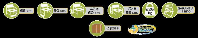 Especificaciones Comodo de Acero Bariatrico con Asiento Semi-acojinado