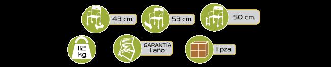 Especificaciones Silla Ducha Plegable con Ruedas