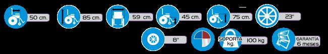 Especificaciones Silla de Ruedas Económica ACTIV2