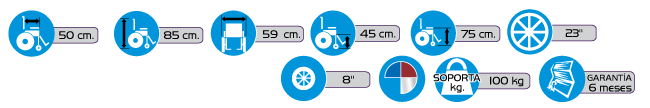 Especificaciones Silla de Ruedas Fija Activ2-FI