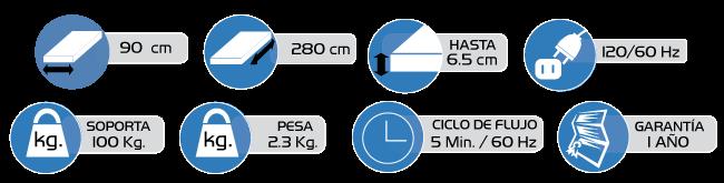 Especificaciones Sistema de Colchon- airSoft 2500