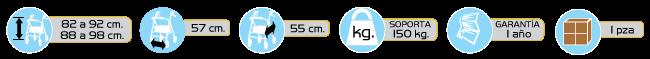 Especificaciones Andaderas de Lujo Tipo Rollator
