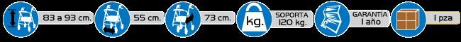 Especificaciones andadera rollator